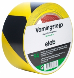 VARNINGSTEJP 50MM GUL/SVART
