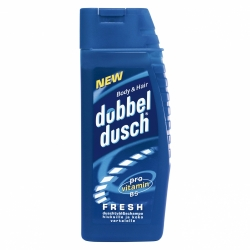 DUBBELDUSCH FRESH BLÅ 250ML